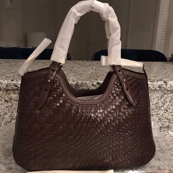 751dfd3ce64c Cole Haan NWT! Genevieve Woven Leather Bag